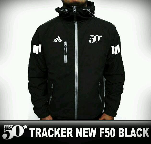 Terbaru!! JAKET WINDBRAKER TRACKER ADIDAS BLACK - ready stock