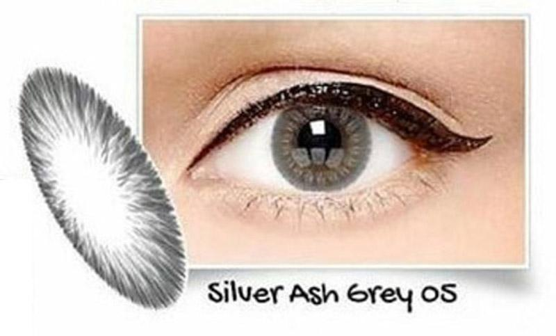 Exoticon Softlens by X2 ICE SILVER ASH GREY 05 / NO 5 - Minus 3.25