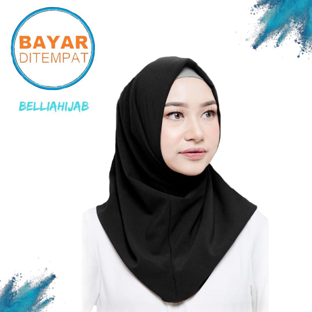 Jual Hijab Jilbab Modern Terbaik Ciput Rajut Ter Inner Brukat Cantik Dalaman Kekinian Bellia Shalwa Kerudung Instan