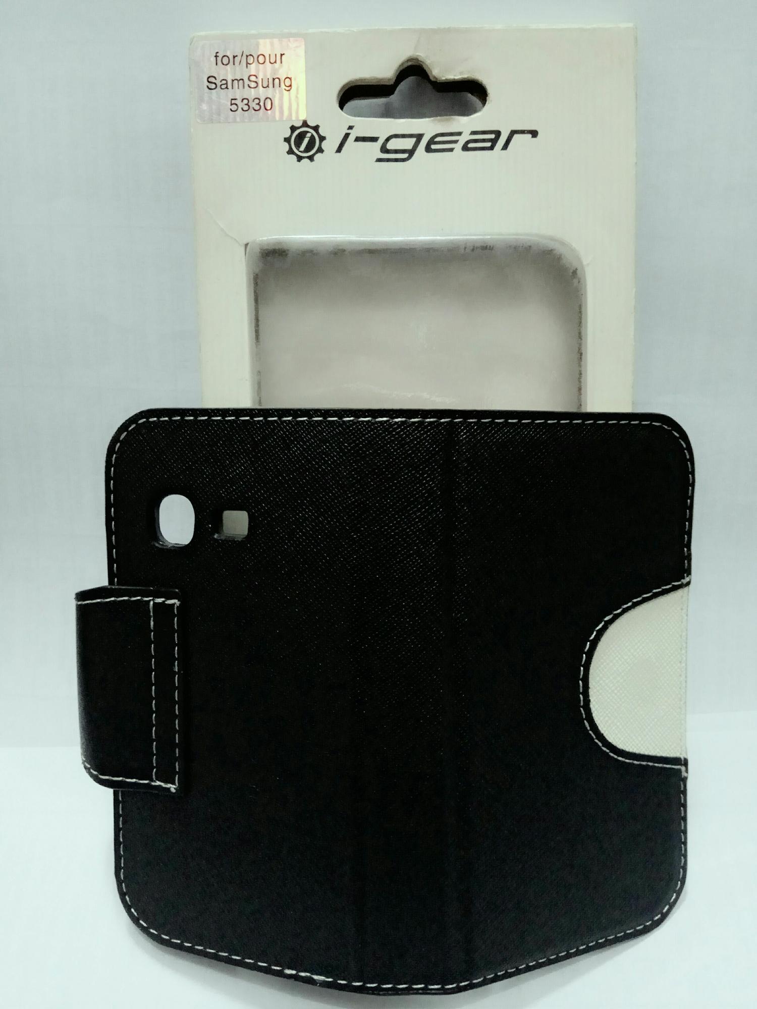 Sarung Buku Wallet Casing Cover Silikon Samsung Chat S5530