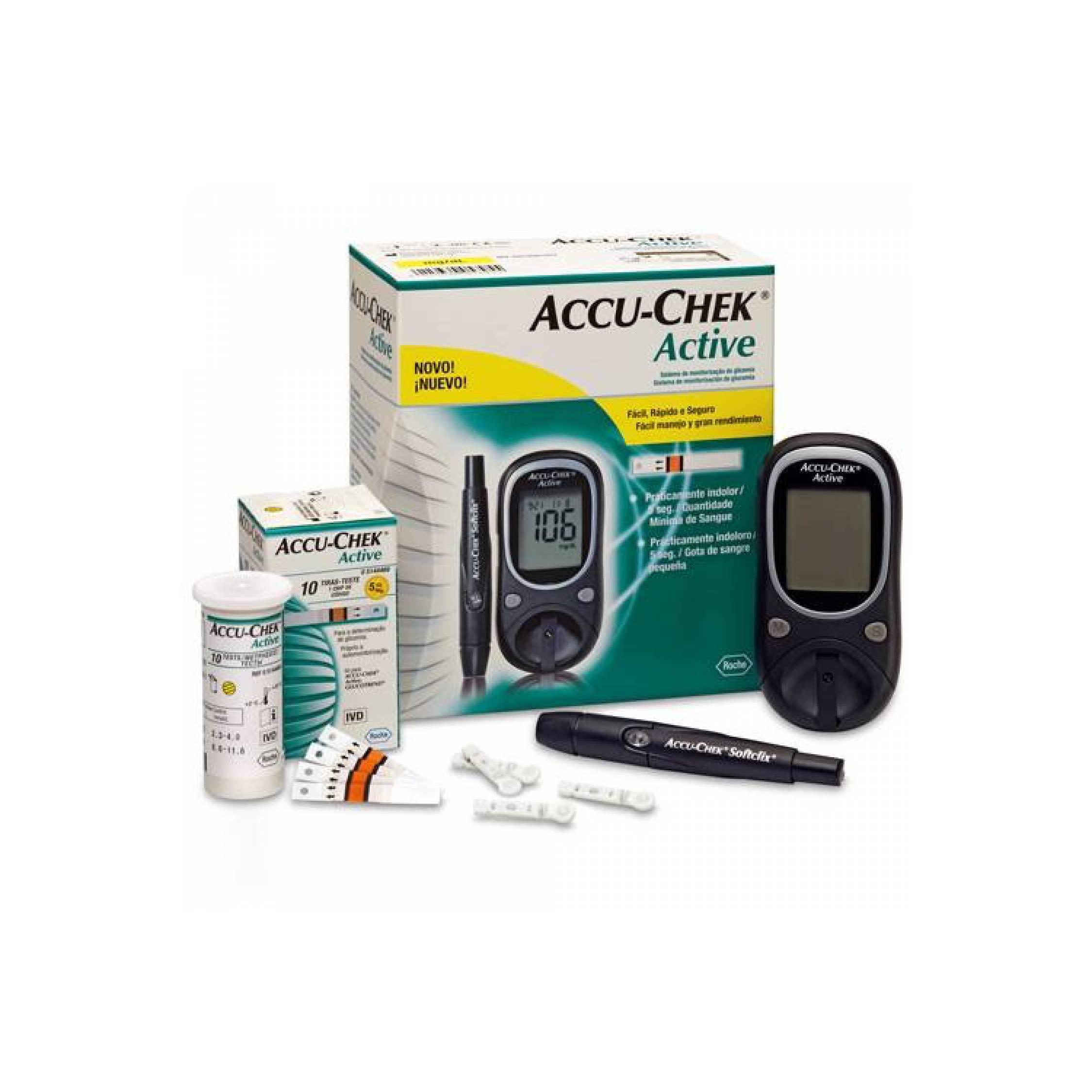 Harga Jual Accu Chek Active Family Pack Alat Tes Gula Darah 400000 Check Monitor Bebas Nyeri Roche Glucose