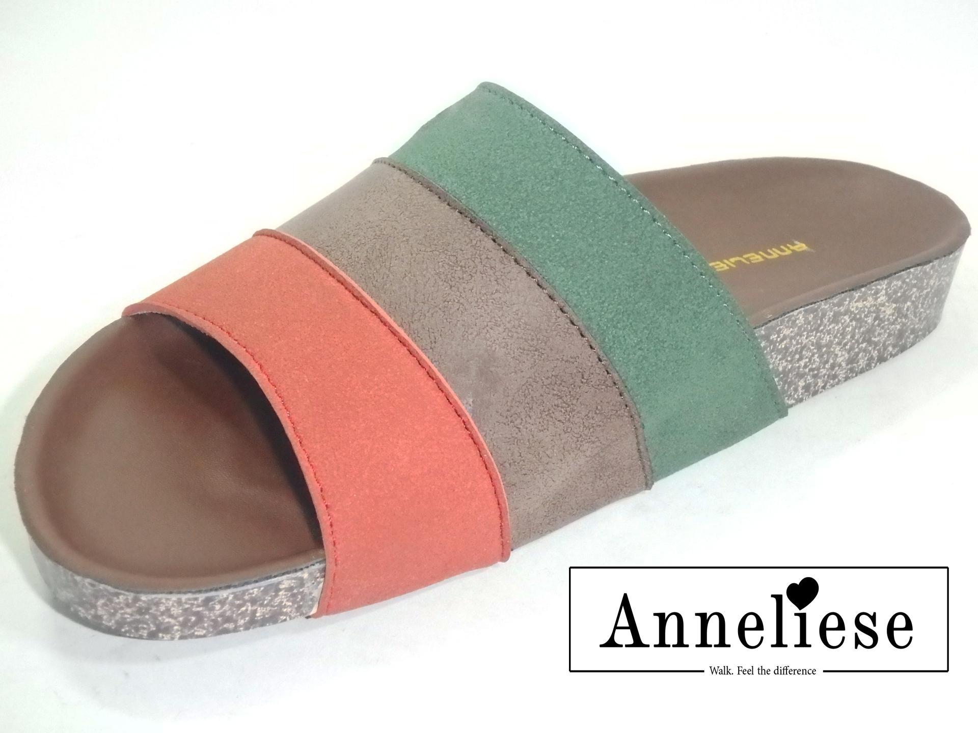 Jual Sandal Flat Wanita Terbaru Koleksi Pria Warna Coklat Bahan Synth Anneliese Sepatu Kokop Megan