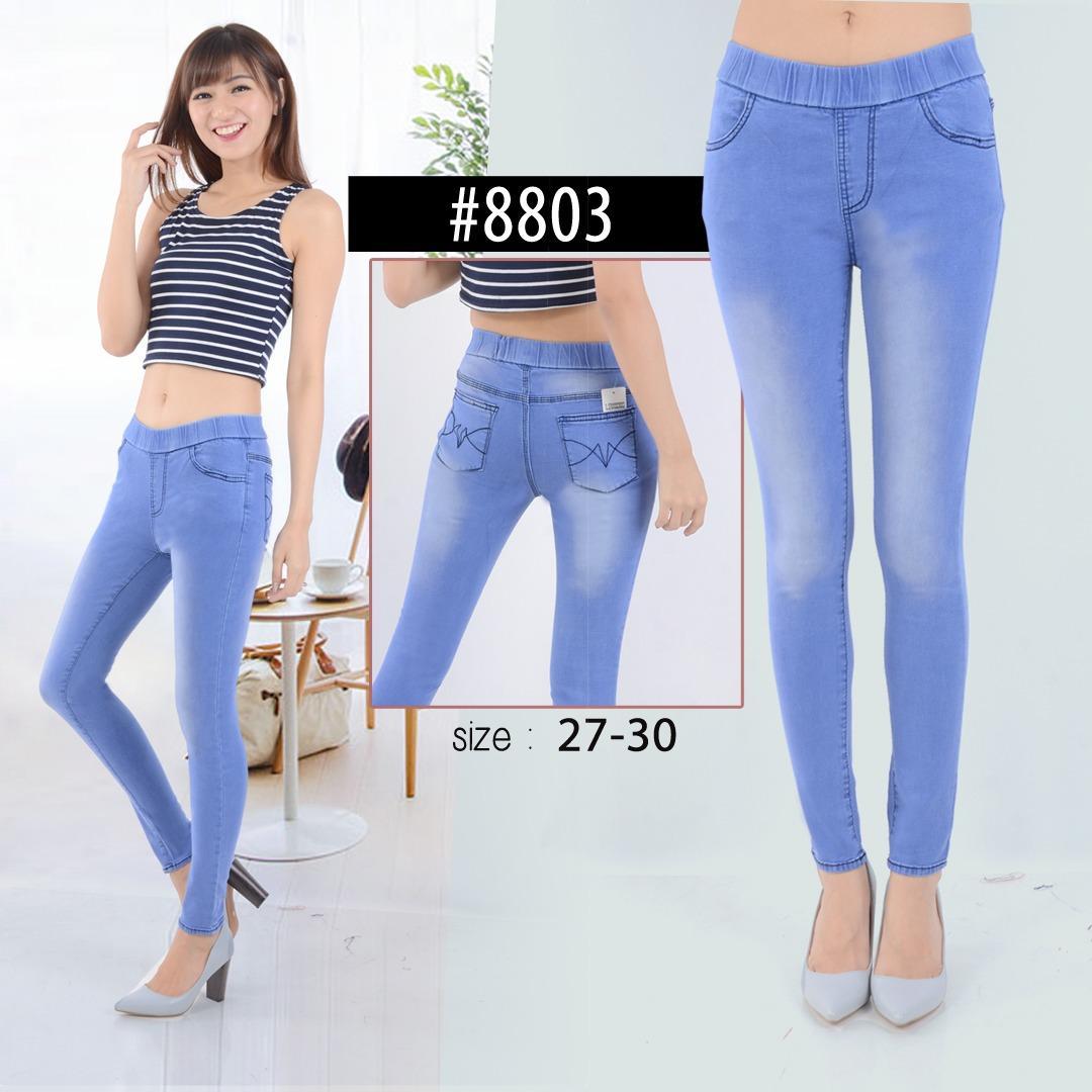 Celana Legging Wanita Celana Wanita Soft Jeans Bahan Bagus Murah - Ice Blue a2fb2ee04e