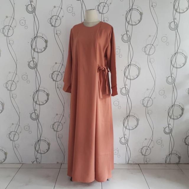 Baju gamis ibu hamil/menyusui/crepe/formal/santai/big Size/jumbo/multifungsi/4 in 1/busana muslimah (Mint)