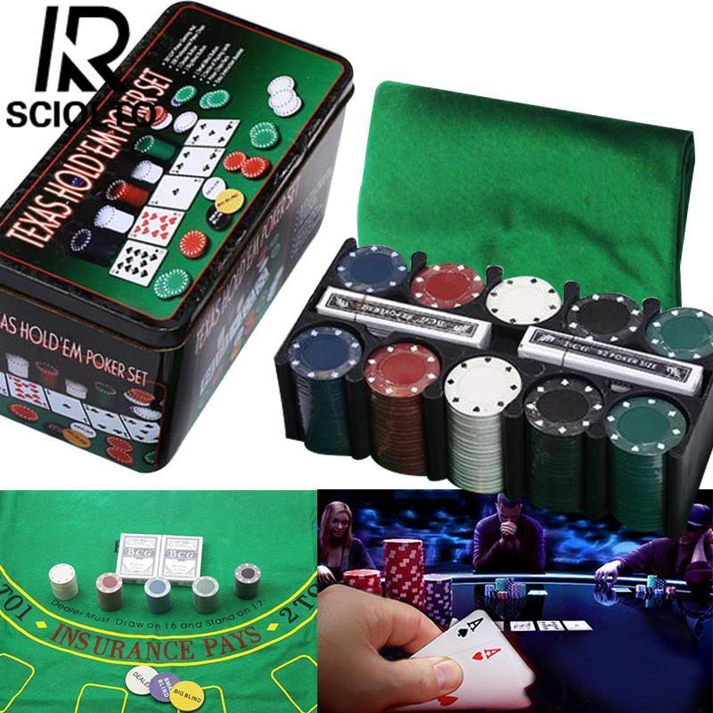 Sciolto Olahraga 200 Pcs/set Bargaining Chip Poker Blackjack Tata Letak Dealer Blinds Bermain Cards-Internasional