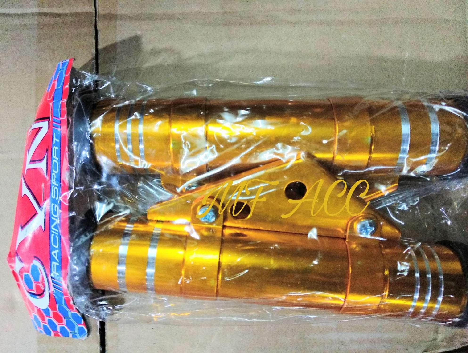 Selongsong Shock Motor Rx King,cb,motor Trail - Gold - Mf Acc By Mf Acc.