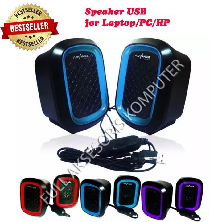 Advance Speaker USB Duo-050 - Biru