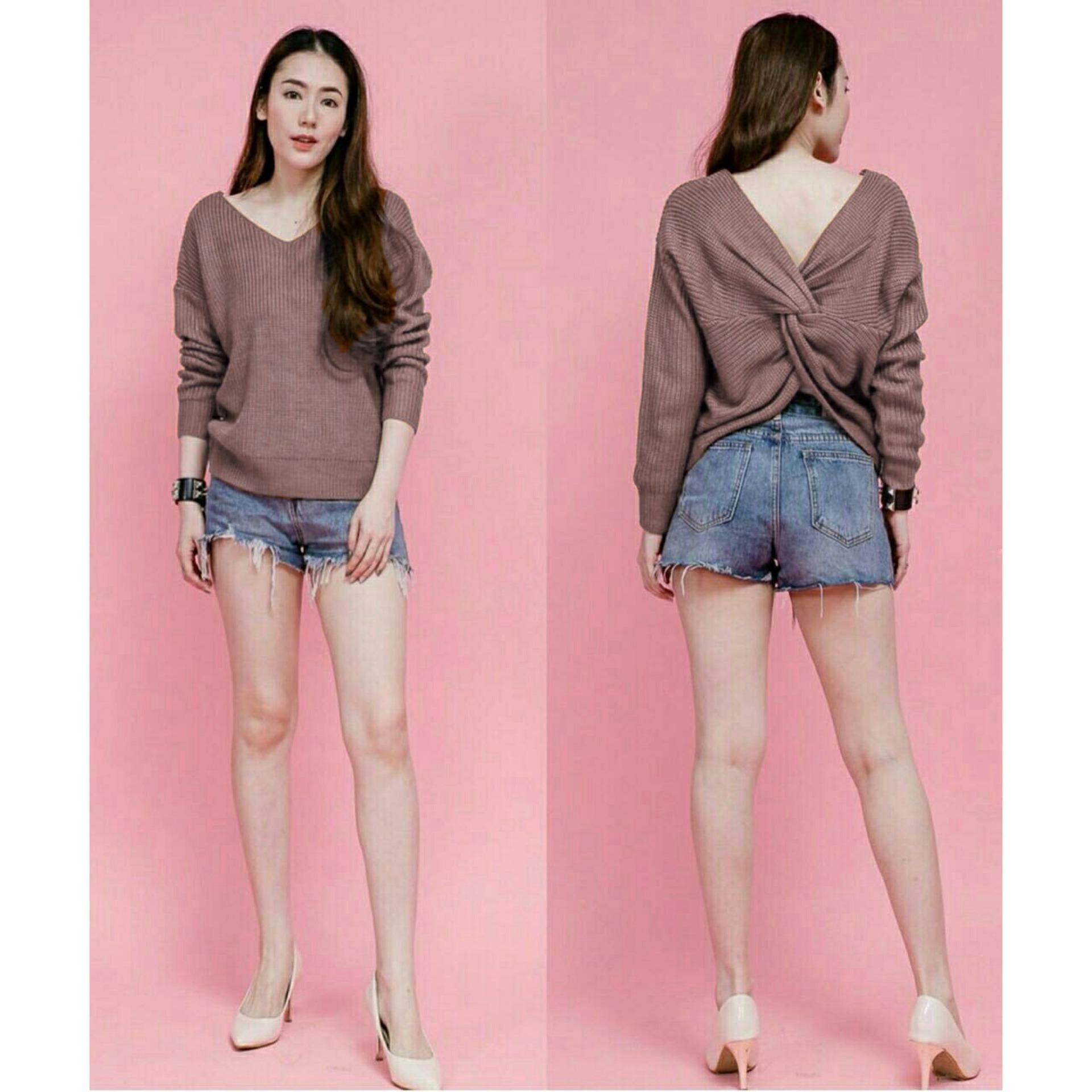 koreafancystore / dusty tamani blouse / baju lengan panjang / pakaian wanita / kado ulang tahun