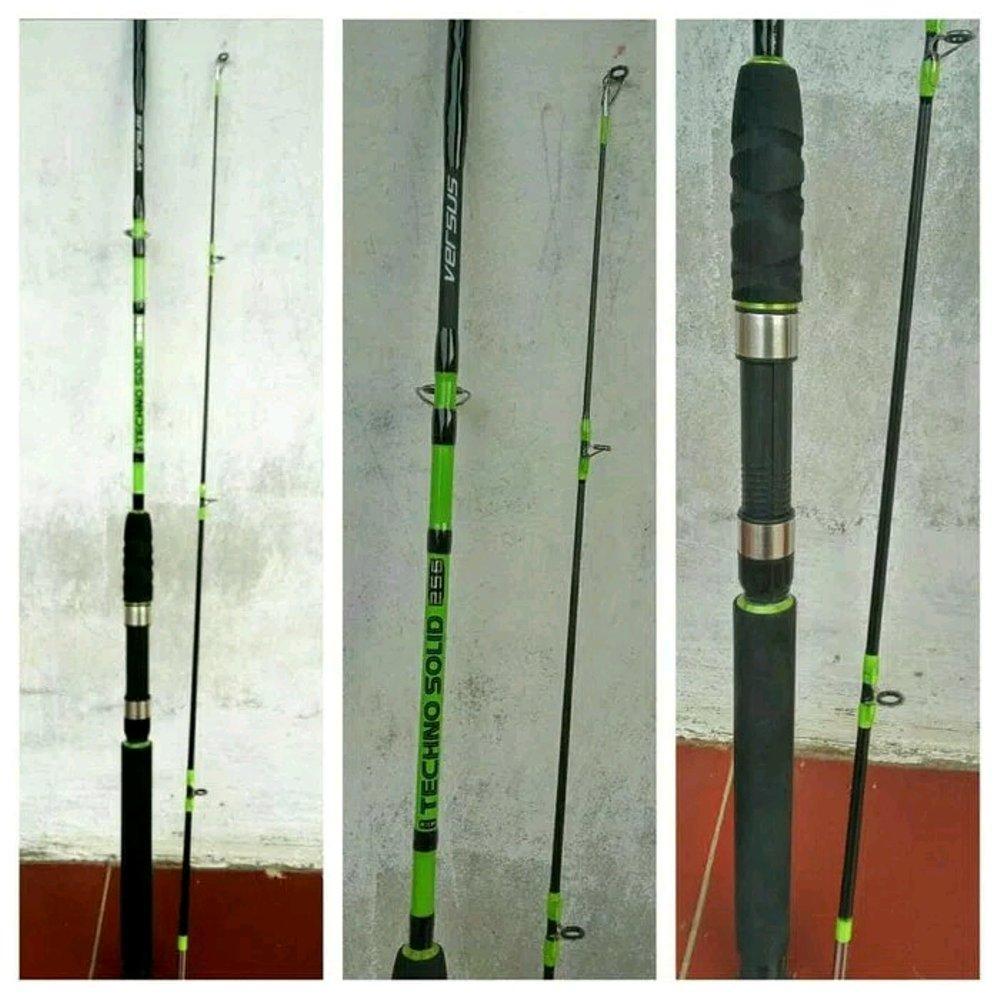 Joran Full Fiber Versus Techno Solid 2.10 m Kekuatan 10 Kg # AF Fishing Store aepsae