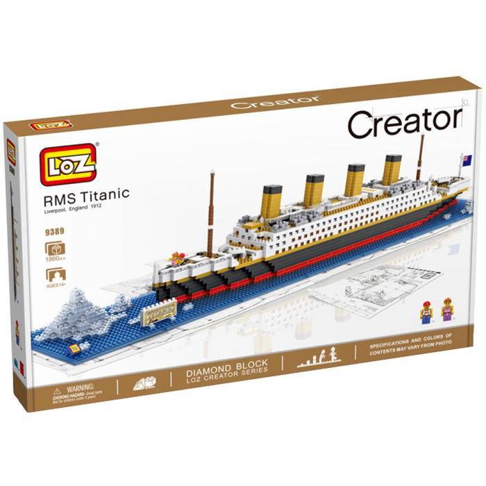 Creator Kapal Titanic - Original Lego LOZ Diamond Block Mainan Edukasi