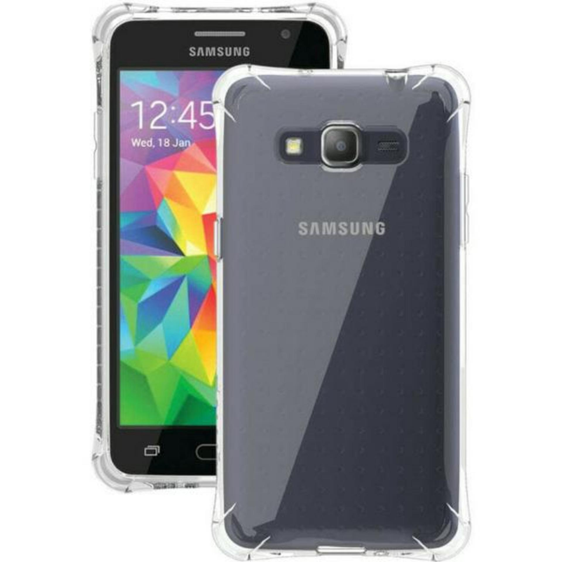 ShockCase for Samsung Galaxy Grand Prime / Plus / G530 / LTE / Duos | Premium Softcase Jelly Anti Crack Shockproof - Transparan