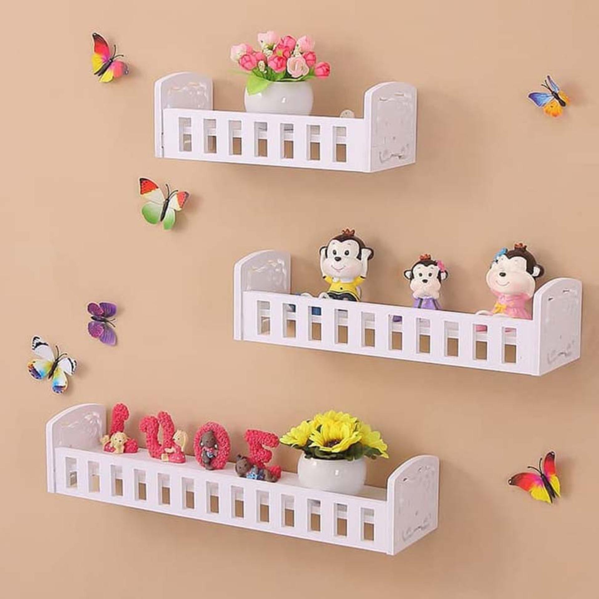 1 Set 3pcs Ambalan Floating Shelf Rak Dinding Daftar Harga Terkini Isi 3 Pcs Shelves Serbaguna Rumah Tangga