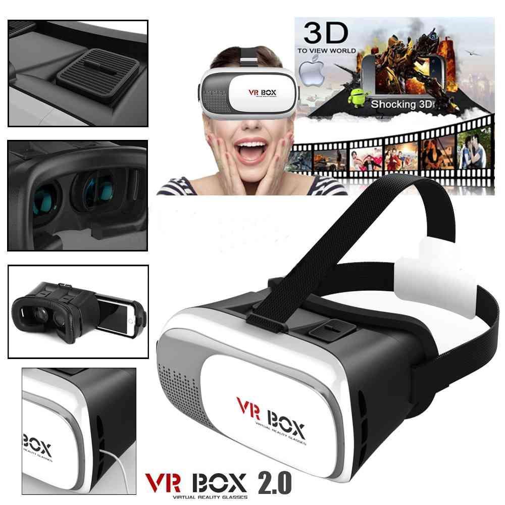 Jual Vr Box Virtual Reality 2 Play More Game With Magnet 3d Glasses Kacamata Cardboard Vb2 T3 Andorid Ios