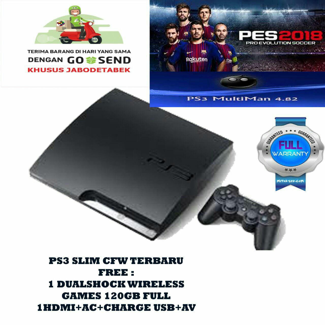 Ps3 slim cfw 120gb free 10 games