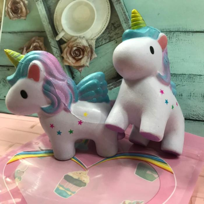 Squishy Murah Cute Unicorn Purple Galaxy Kuda poni Mainan Anak Perempuan Rasyidtoys