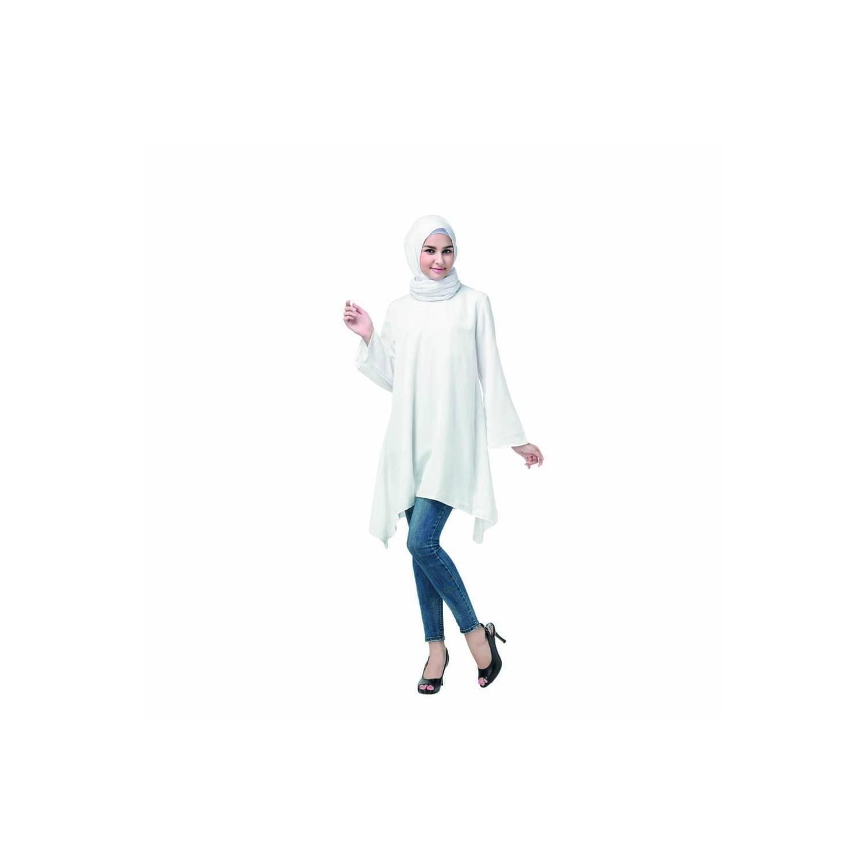Tunik Bahan Katun Efata Warna Putih Size M XL