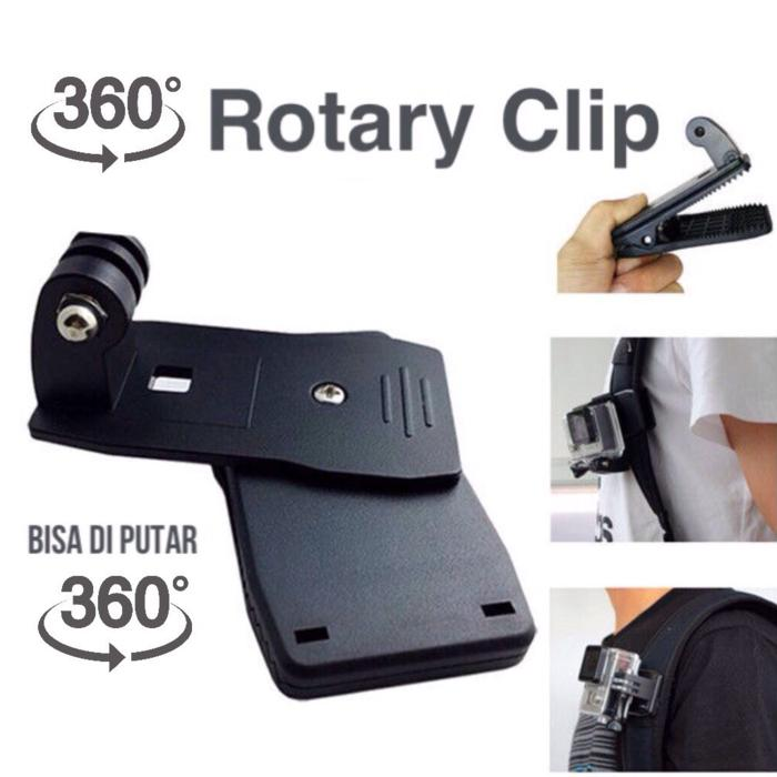 Penjepit kamera Action Cam Rotary Clip 360 Mount GoPro Xiaomi - HCR055