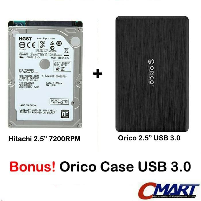 Hitachi HGST Laptop 1TB 7200RPM Notebook hardisk & Orico Case External