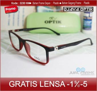 Pencarian Termurah Frame Kacamata Minus D G 3230 Lensa anti radiasi + free lensa  minus   plus 323bd968d2