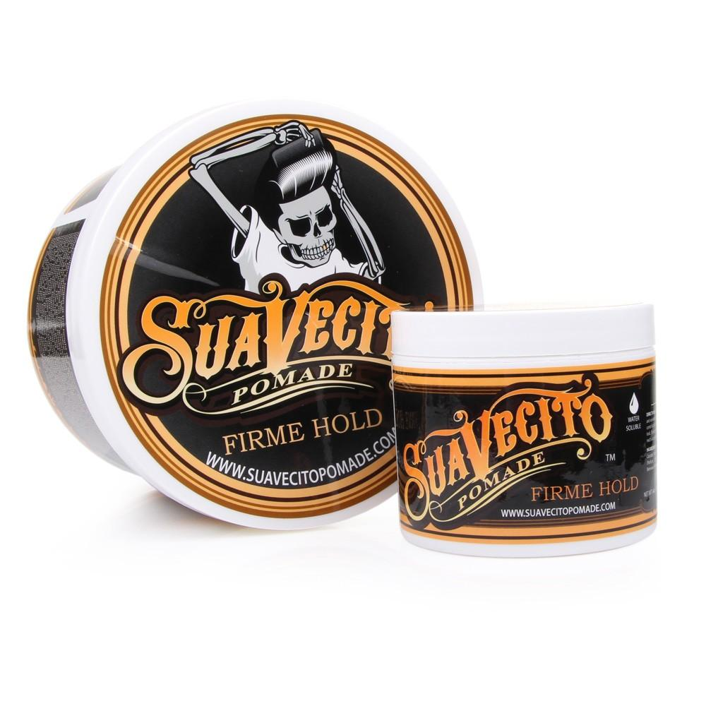 Produk Suavecito Styling Rambut Pomade Warna Sample Hair Clay Wax Color Free Sisir Firme Hold Waterbased 4oz