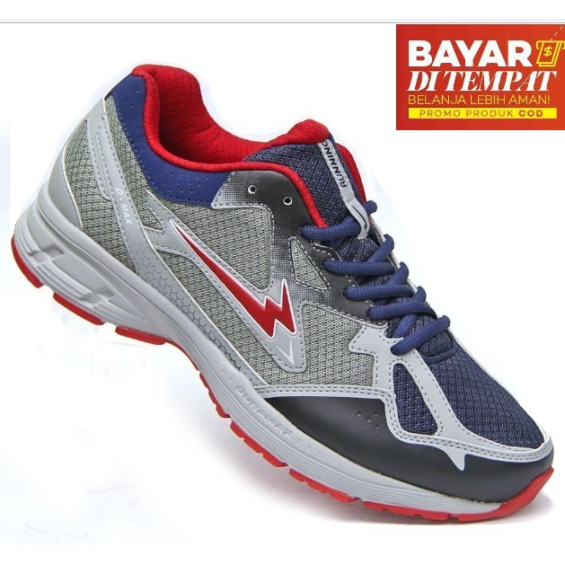 Eagle Neutron Sepatu Lari - Navy/Grey/Red