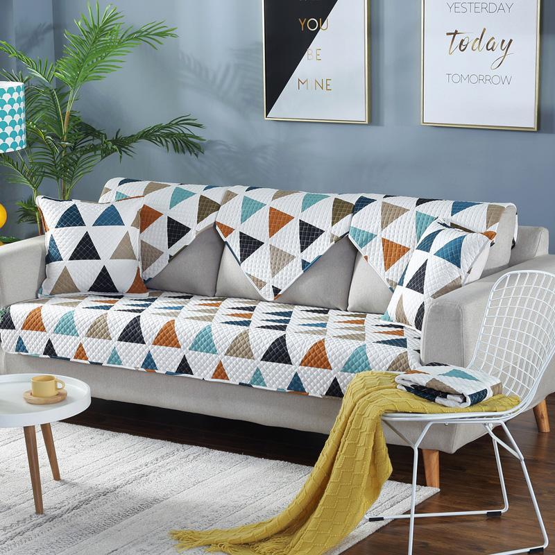 Katun Kain Anti Selip Bantal Sofa Modern Minimalis Bantal Duduk Katun Murni Bisa Dipakai Empat Musim