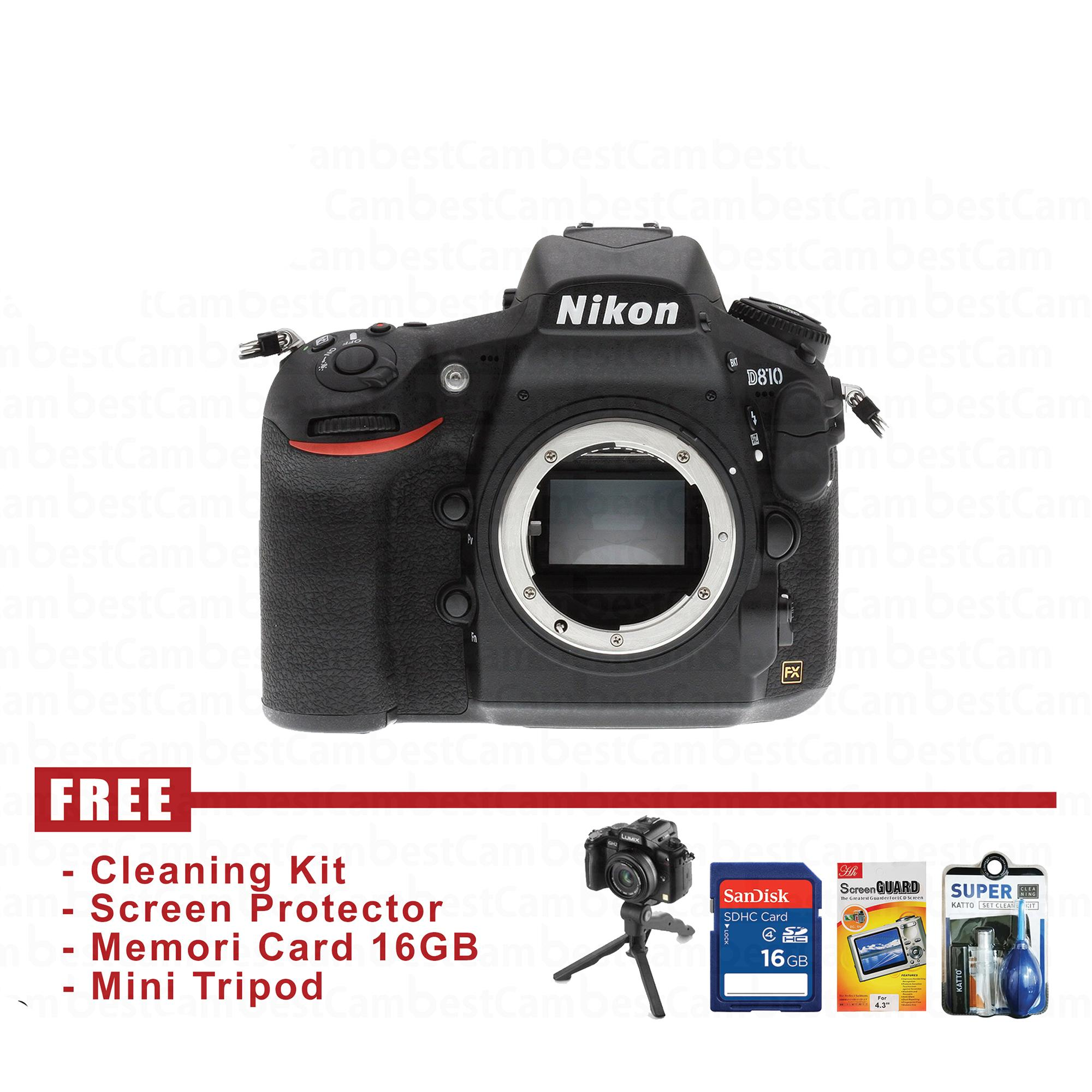 Nikon D810 Body Only - Hitam - FREE Accessories