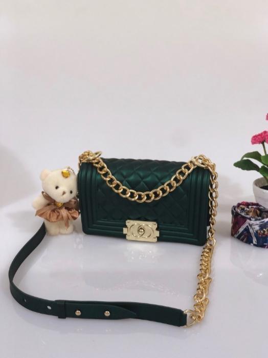 TAS IMPORT JAKARTA JELLY MATTE Chanel Boy UK25 BW8037 FREE BONEKA DAN SYAL