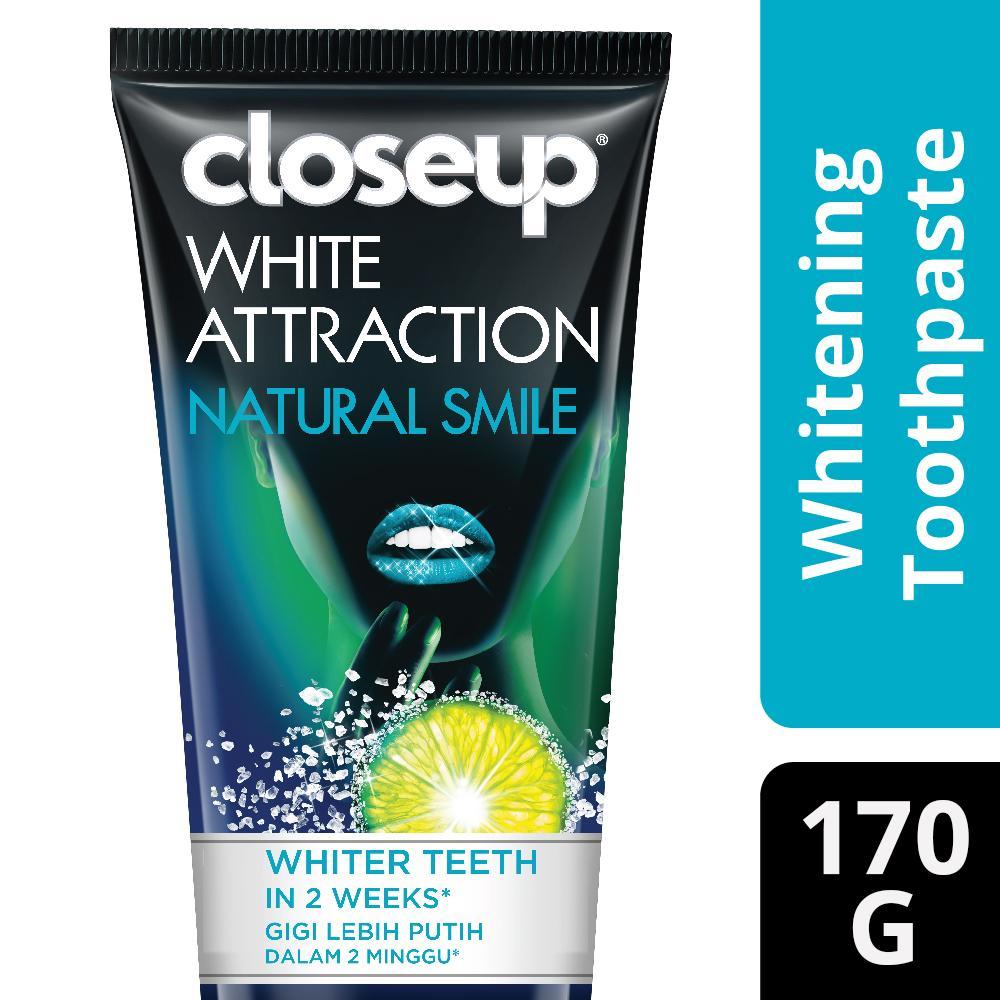 CLOSEUP PASTA GIGI WHITE ATTRACTION NATURAL SMILE 170G