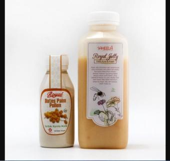 "Paket Promil ""Serbuk Kurma Muda 60g + Madu Royal Jelly 500g"""