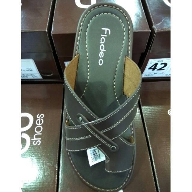 Sandal casual pria fladeo original 100% fullset box new 43