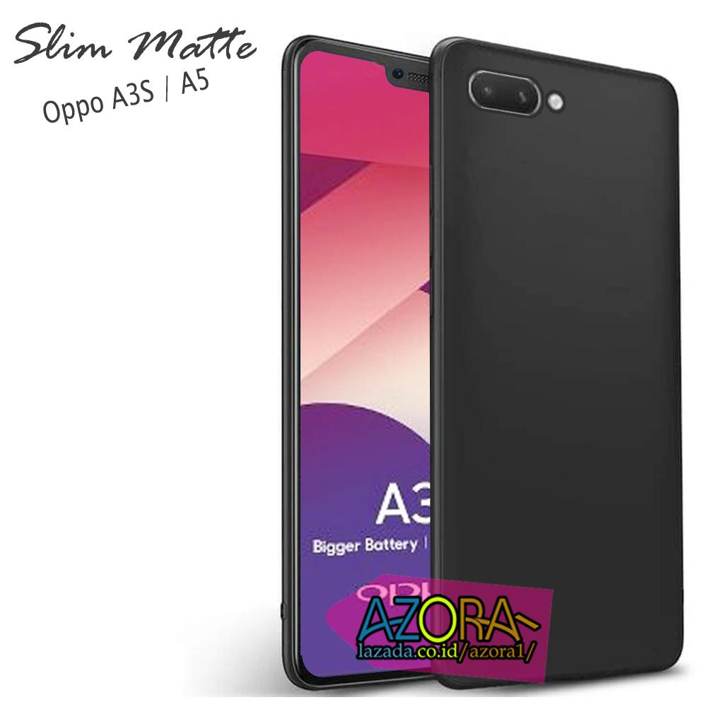 Case Slim Black Matte Oppo A3S / Realme C1 (sama ukuran) Dual Camera Baby