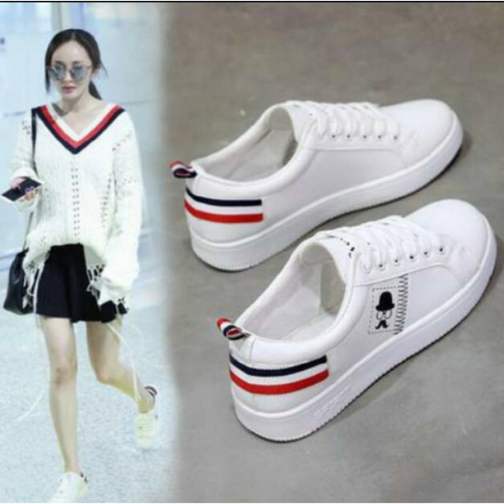 216Collection Sepatu Kets sneakers Wanita/Pria Poxing Kumis - Sepatu Santai - Sepatu putih