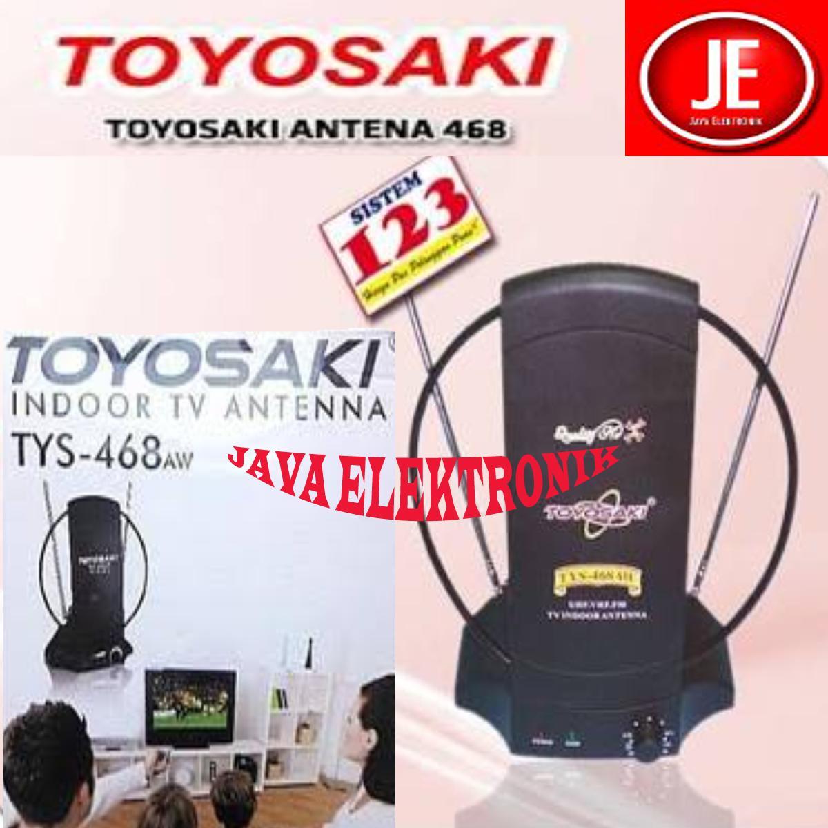 Toyosaki Antena Dalam TYS 468 AW/Antena Indoor UHF + VHF ( Smart Gain Indicator