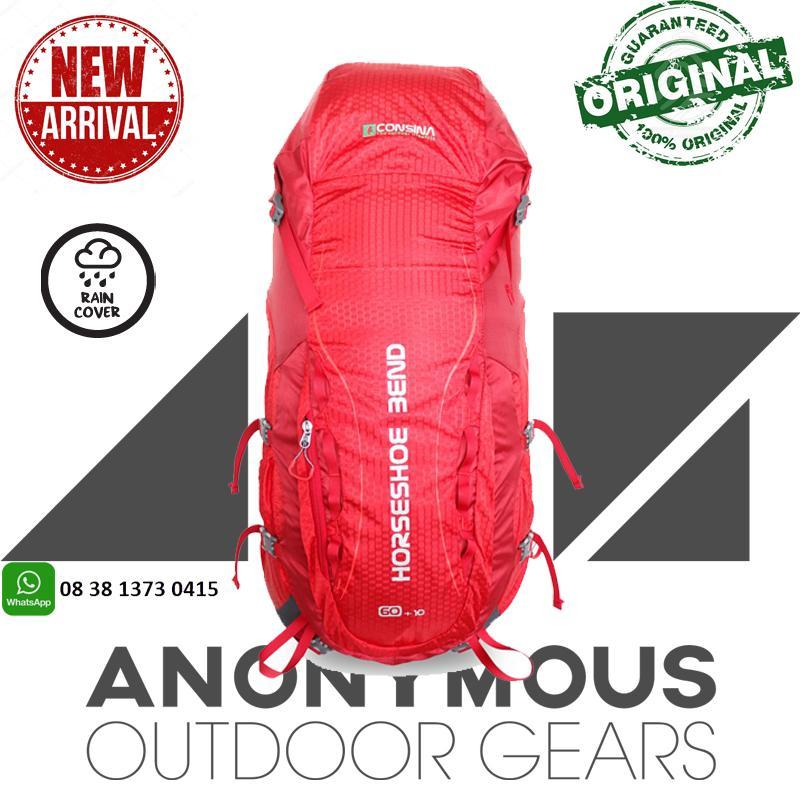 CONSINA HORSHOE BEND 60 + 10 L Backpack/Ransel/Tas Gunung/Carier