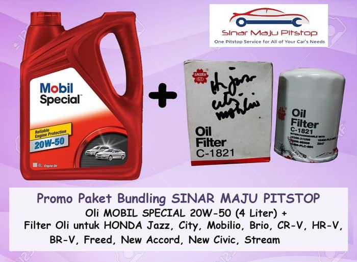 Paket MOBIL SPECIAL 20W-50 & Filter Oli HONDA JAZZ & ALL NEW JAZZ RS