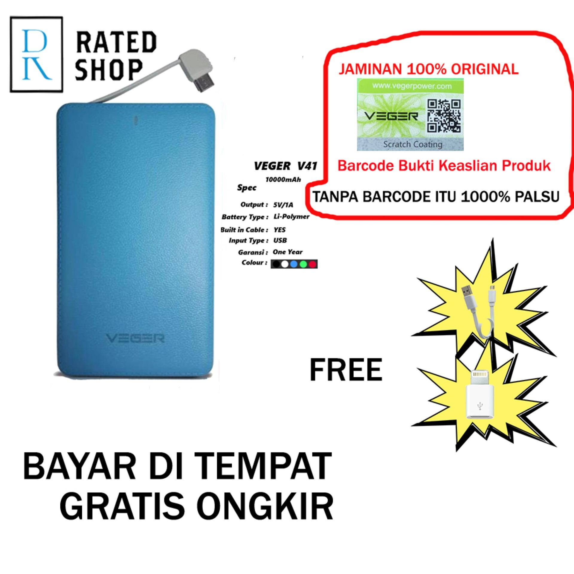 Veger V41 Power Bank Slim 10000mah