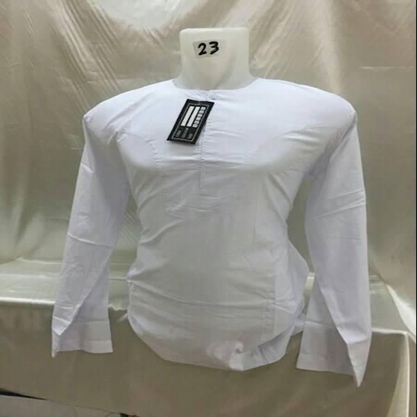 Baju Koko Polos UJ Tangan Panjang#Koko Dewasa Model Oblonv