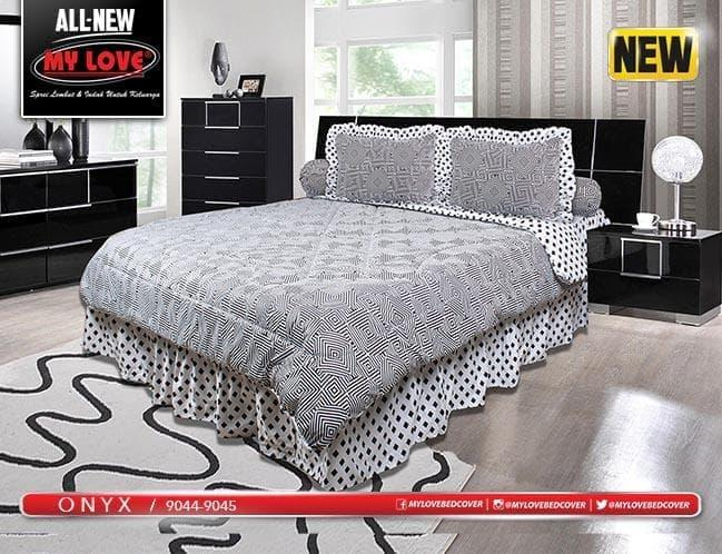 Bedcover My love 180 x 200 Onyx ( Flat ) Exclusive