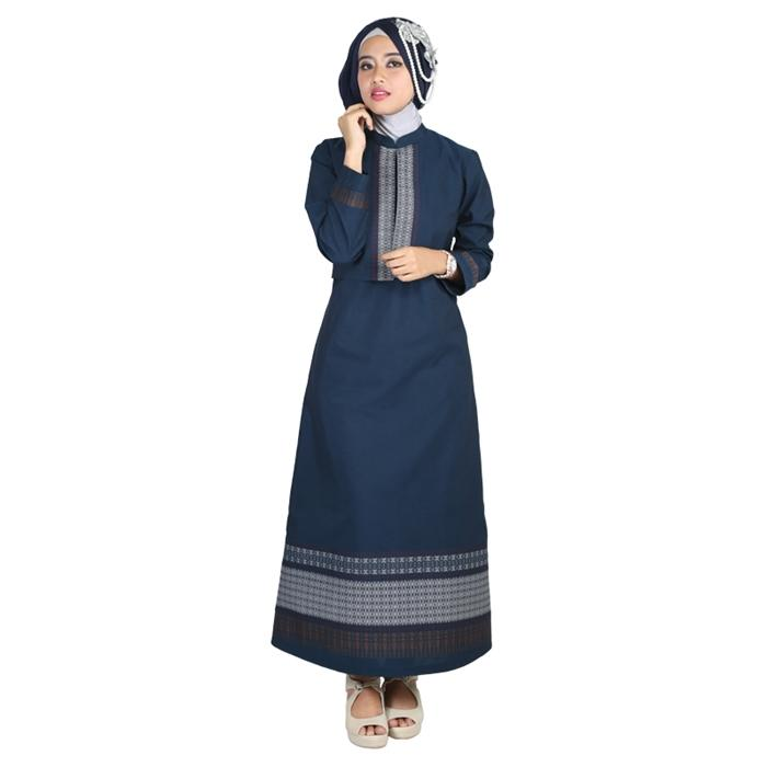 Baju Muslim Couple Raindoz RGS 039 Biru