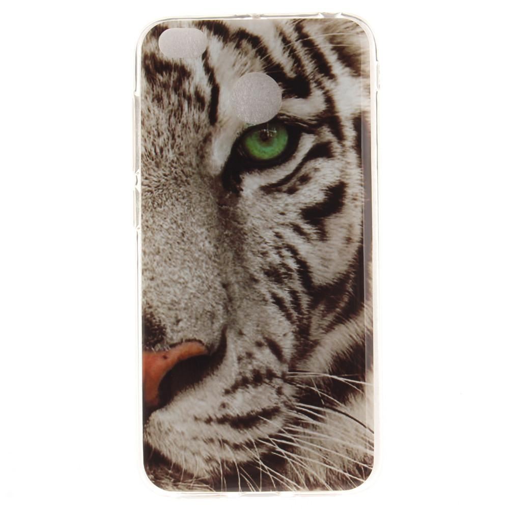 The Tiger Pattern Soft Clear IMD TPU Phone Casing Mobile Smartphone Cover Shell Case for Xiaomi