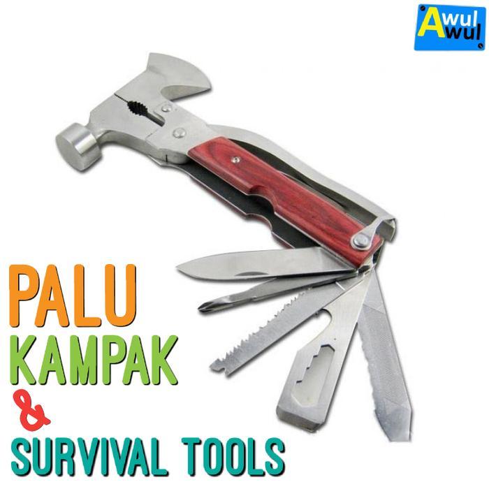 Diskon 10%!! Palu Kampak & Survival Tools | Peralatan Outdoor - ready stock