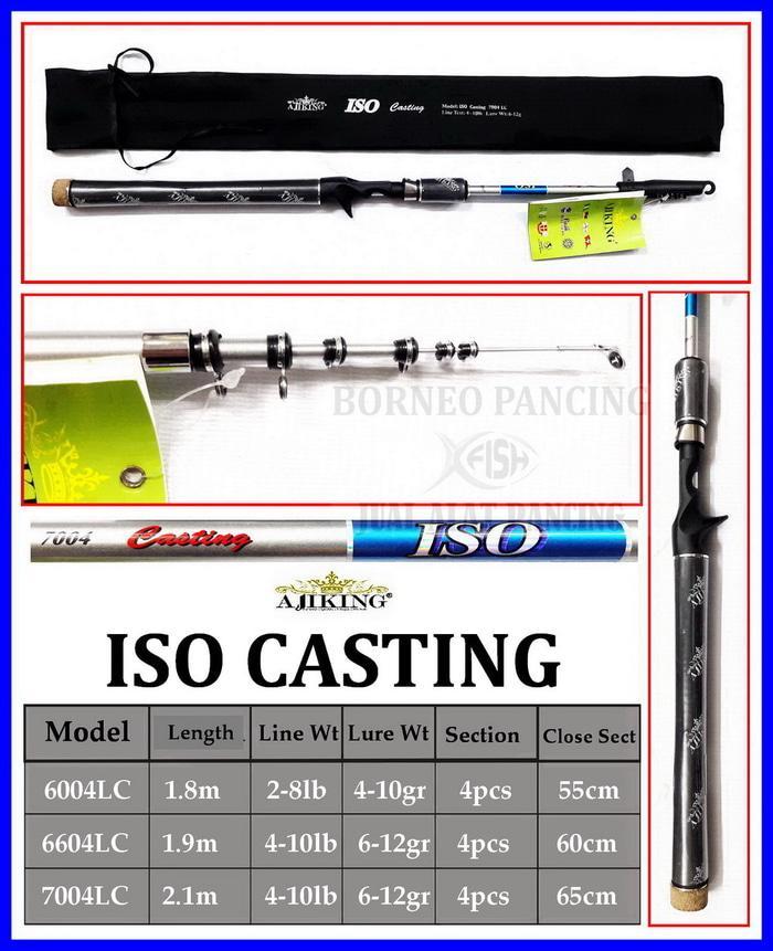 Stik Ajiking ISO CASTING 6004LC Baitcast-Antena 2-8lb