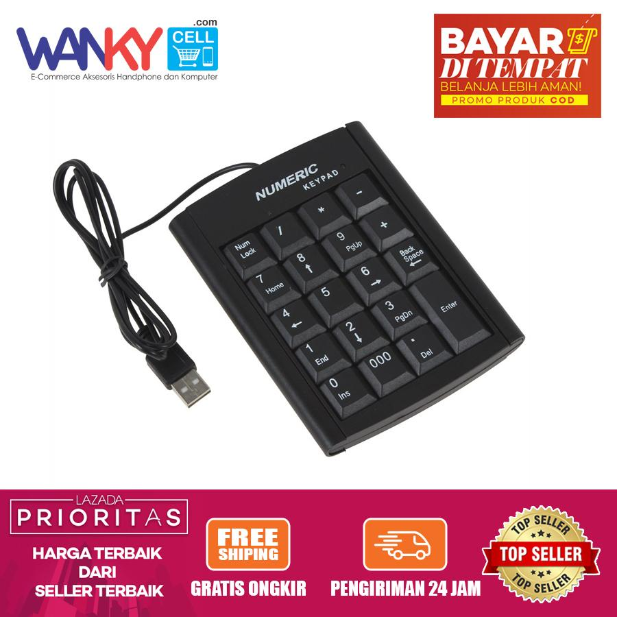 Keyboard Numeric Keypad USB For Laptop/Computer/HP/Tablet - Hitam