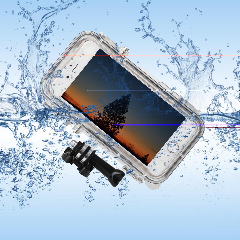 Olahraga Outdoor Tahan Air Casing Ponsel Cover untuk iPhone 6 6 S 4.7 Inch Aksesori GoPro dengan 170 Derajat Sudut Lebar Lensa Kamera