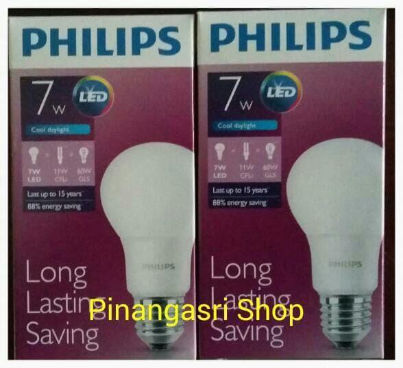 Promo Lampu LED Philips 7 watt Bohlam 7w / Philip Putih 7 w Bulb LED 7watt original