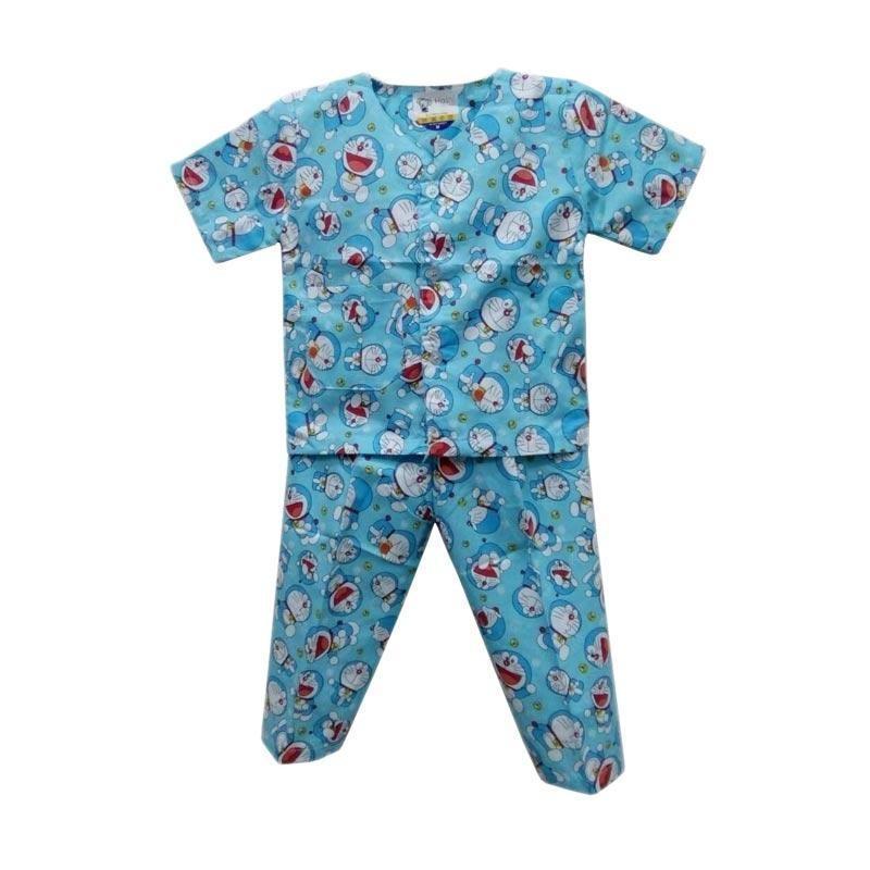 Baju Tidur Anak (Piyama) Motif Doraemon Untuk umur 4-7 Tahun