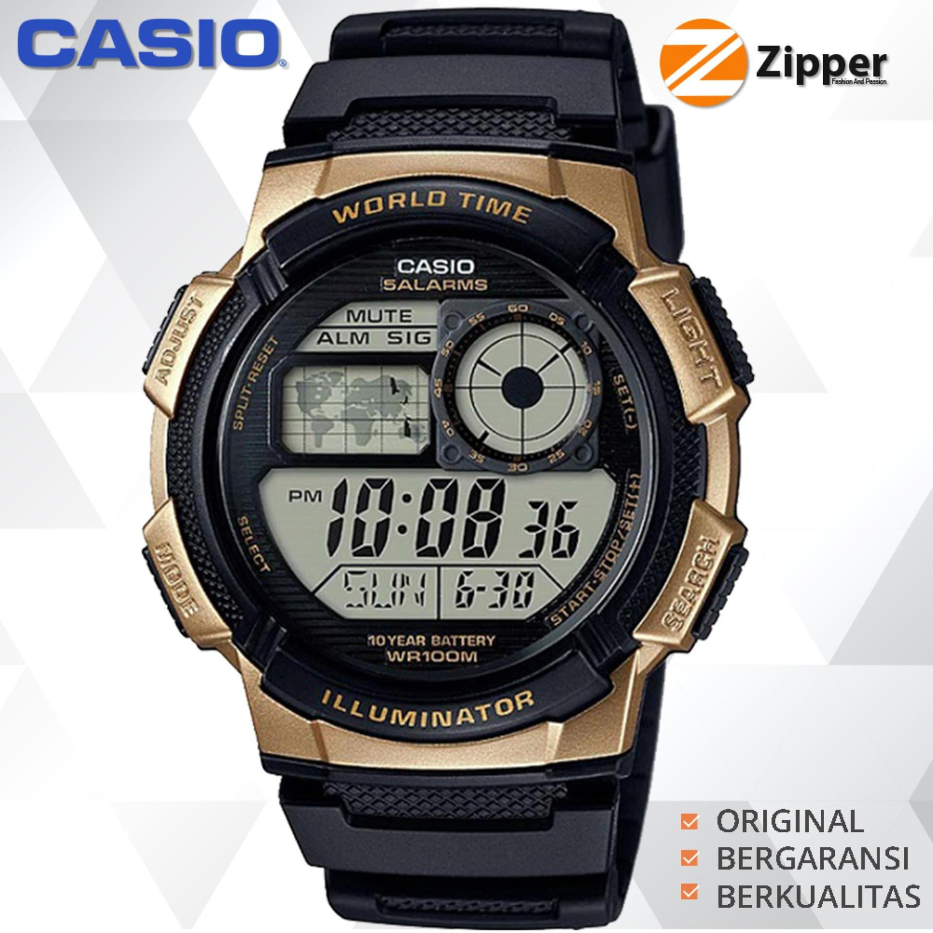 Casio Illuminator Jam Tangan Digital AE-1000W-1A3VDF Youth Series - Tali Resin