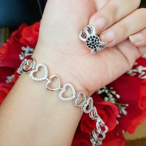 gelang cincin xuping love cantik gold silver