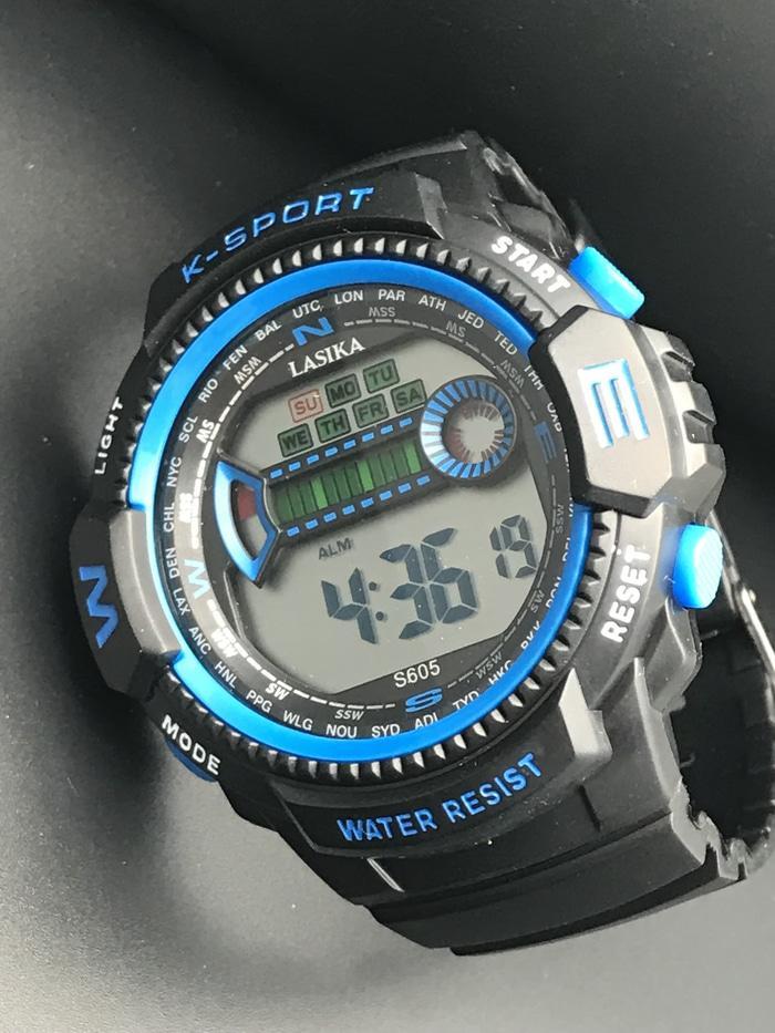 jam tangan pria wanita sport original lasika anti air 50m rubber strap 605 bed4e7ab83